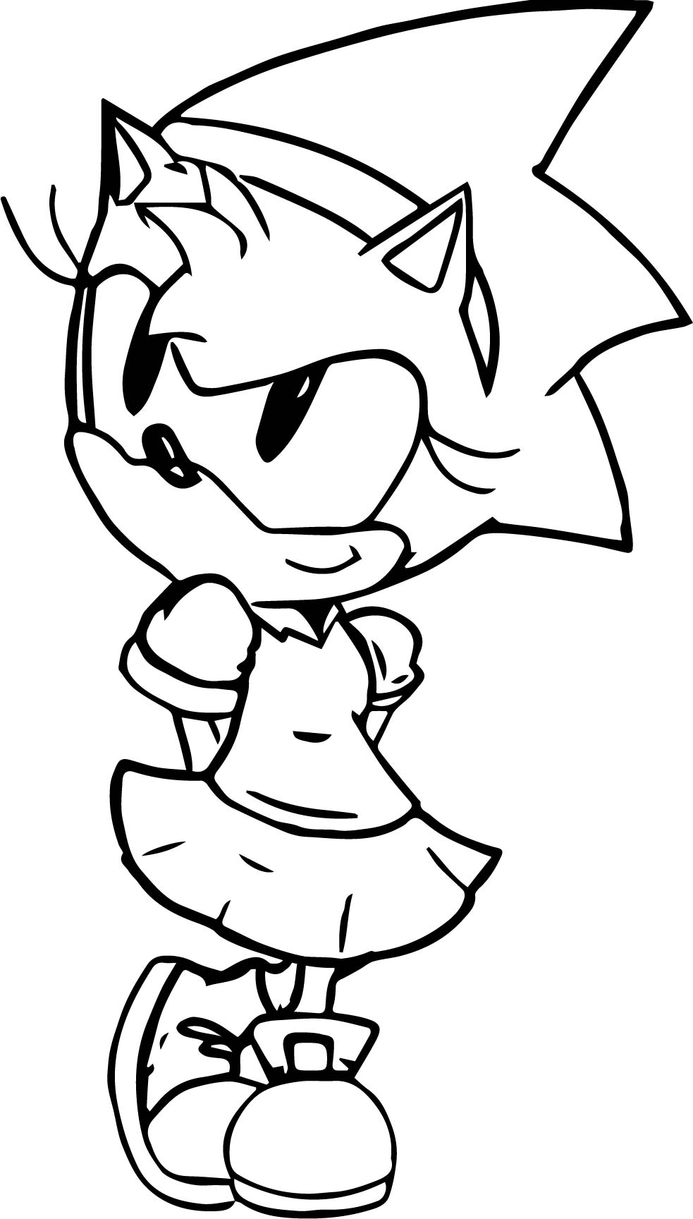 amy rose the hedgehog coloring pages virtren com