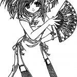 Japan Anime Girl Coloring Page