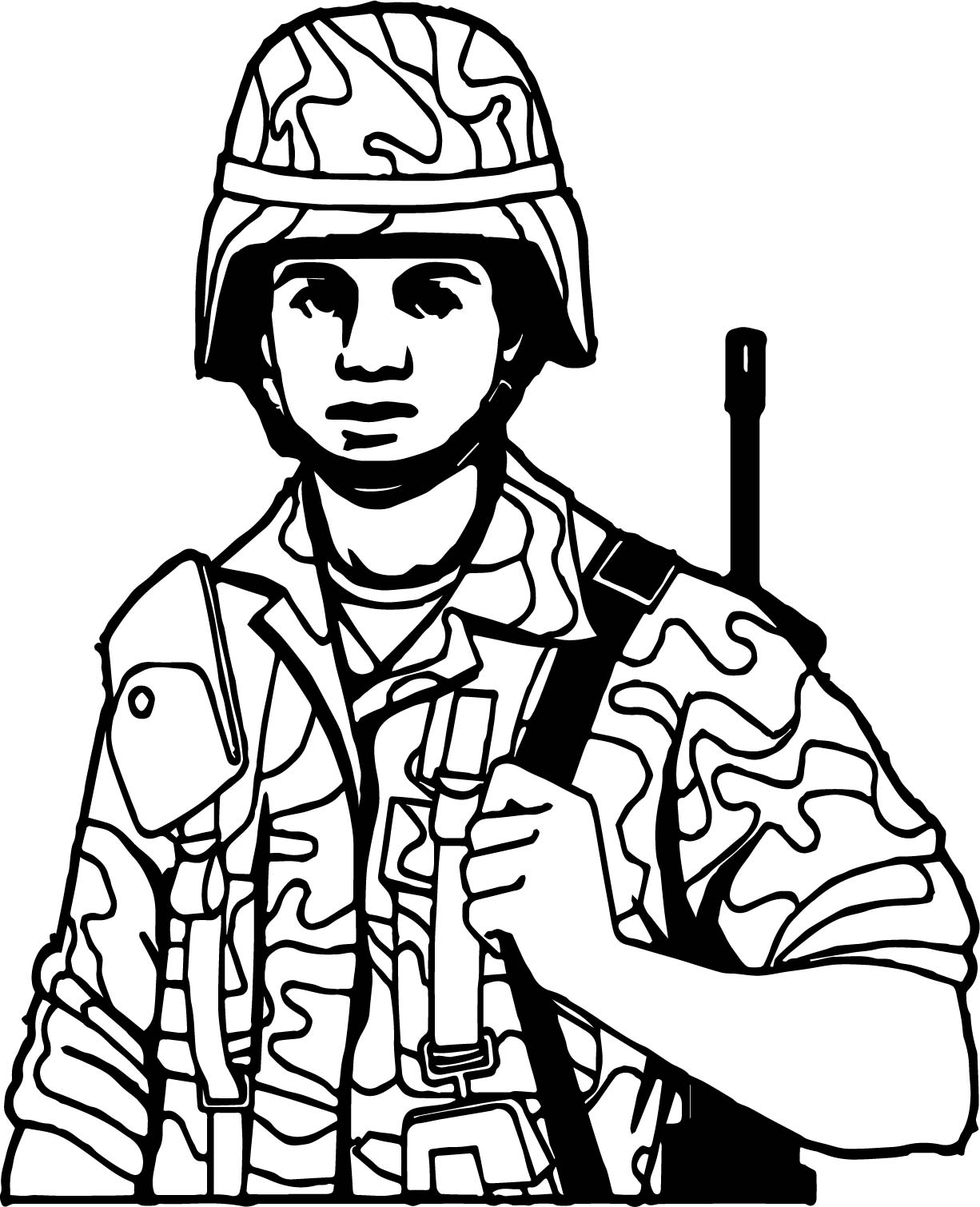 Just Soldier Coloring Page