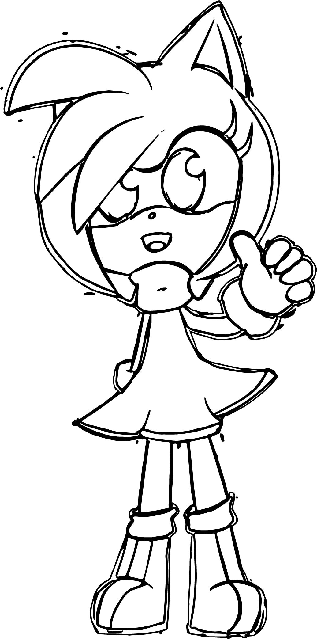 Kid Amy Rose Ok Coloring Page
