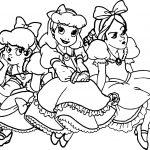 Kids Cinderella Drizella Anastasia Disney Princess Coloring Page
