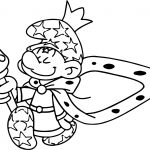King Smurf Coloring Page