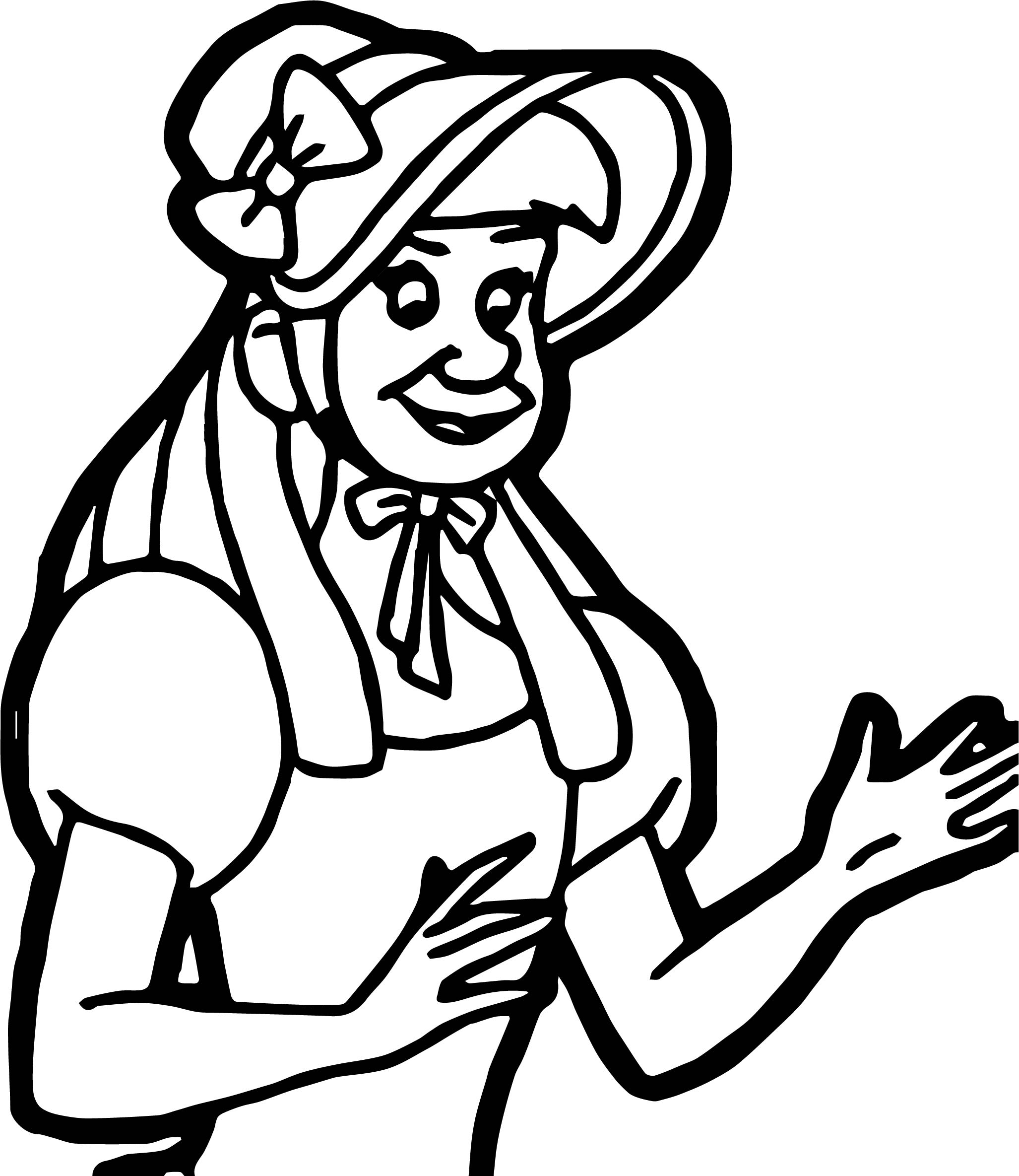 Lady Anastasia Drizella Coloring Page