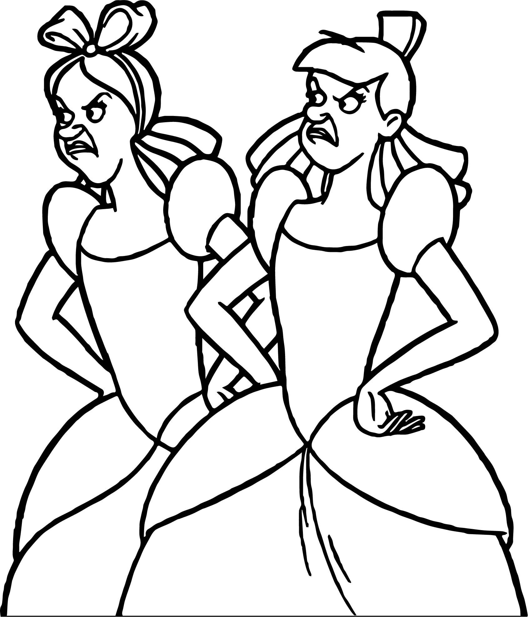 Lady Tremaine Anastasia Drizella Coloring Page