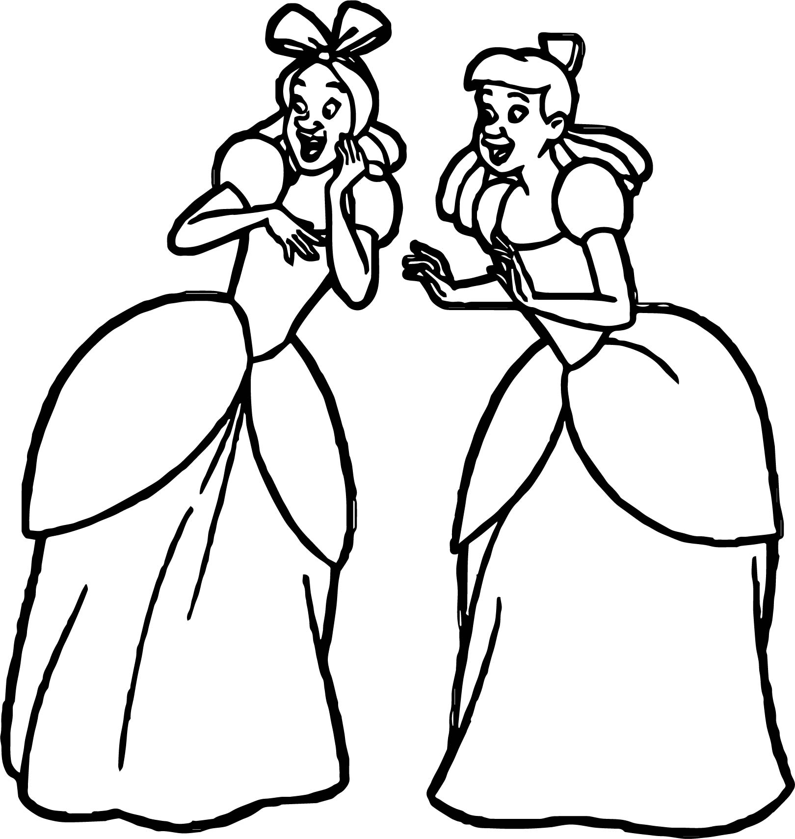 Lady Tremaine Anastasia Drizella Talking Coloring Page