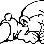 Lazy Comic Book Smurf Coloring Page