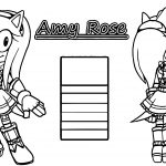 Left And Right Amy Rose Coloring Page