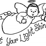 Light Shine Angel Coloring Page