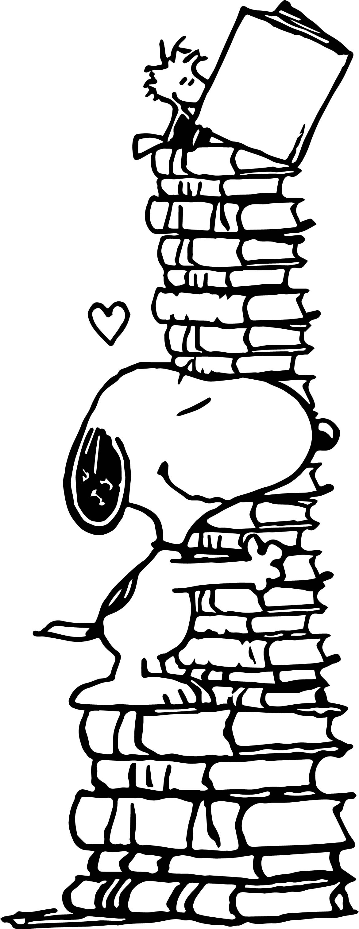 Love books snoopy coloring page for Snoopy coloring page