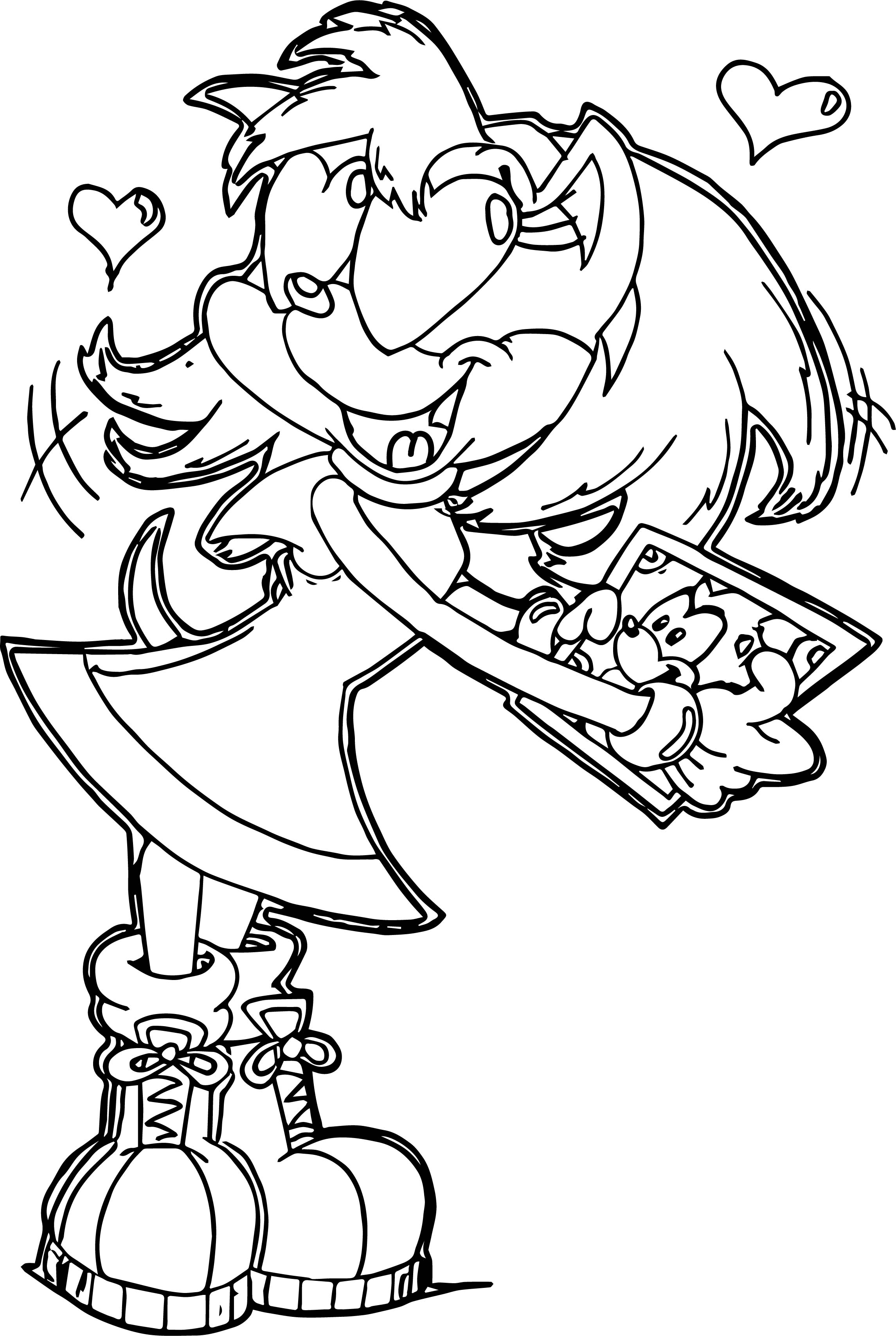 Lovely Amy Rose Coloring Page