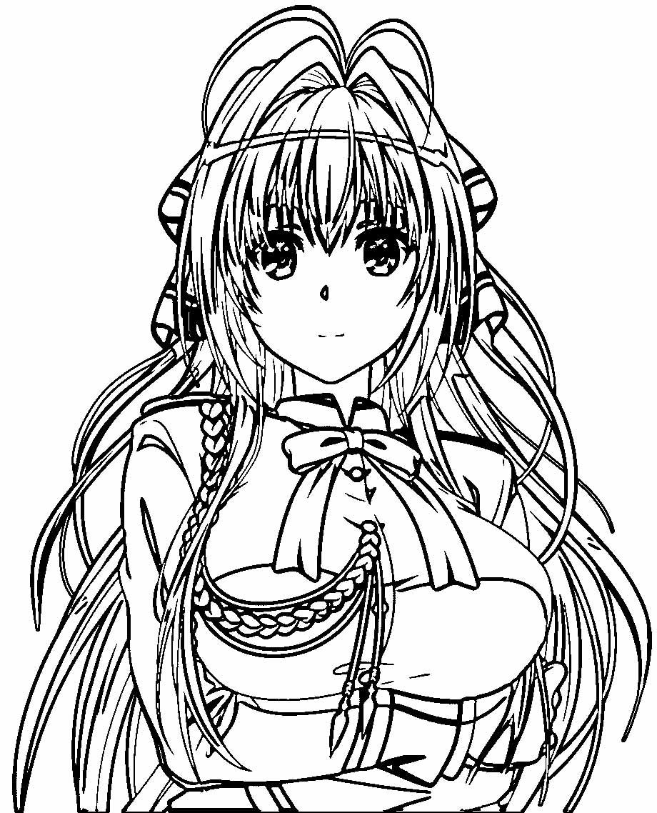 Manga Sento Isuzu Anastasia Coloring Page