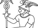 Mercury Ancient Roman Gods For Kids Coloring Page