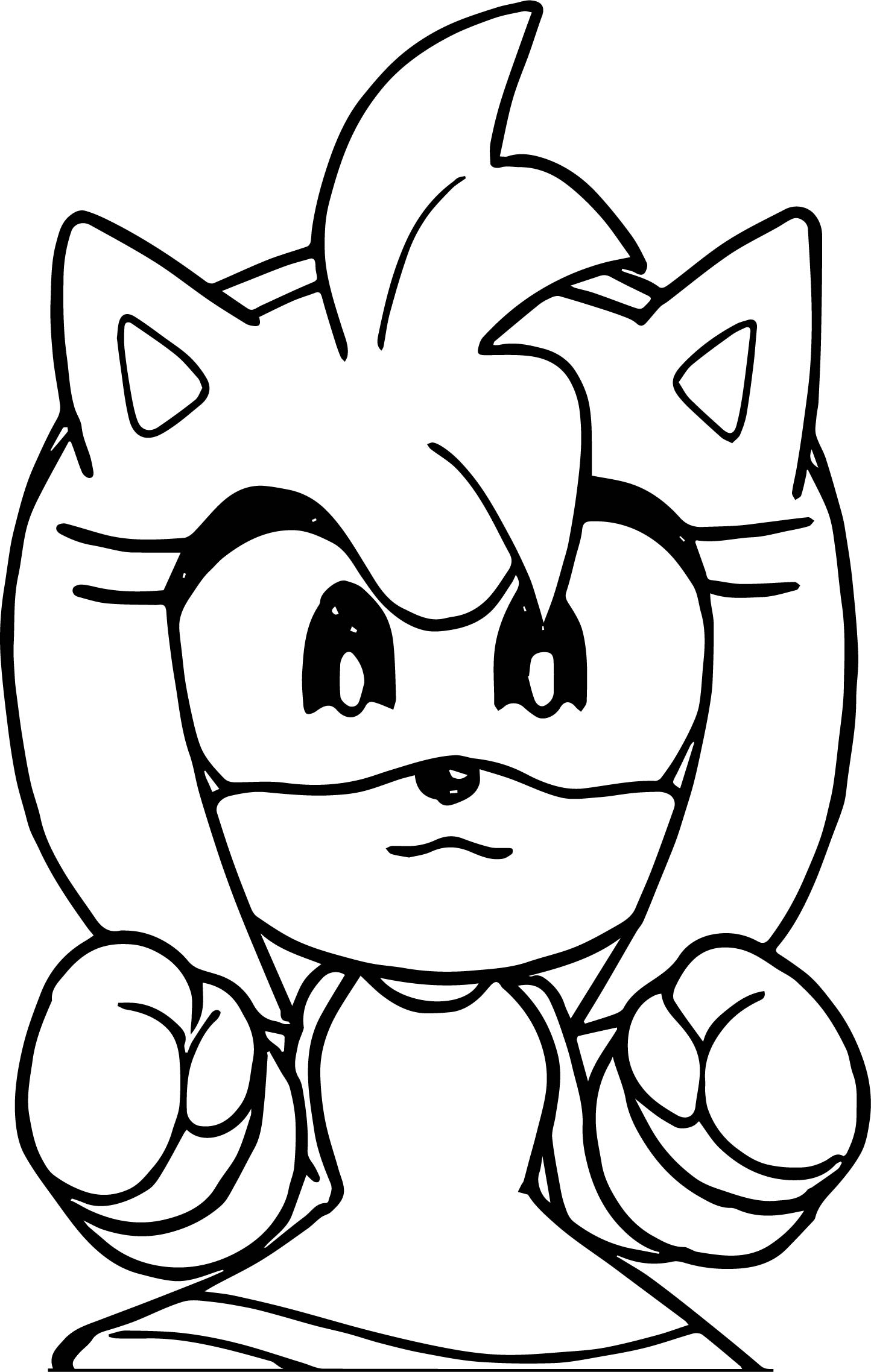 mini amy rose coloring page wecoloringpage