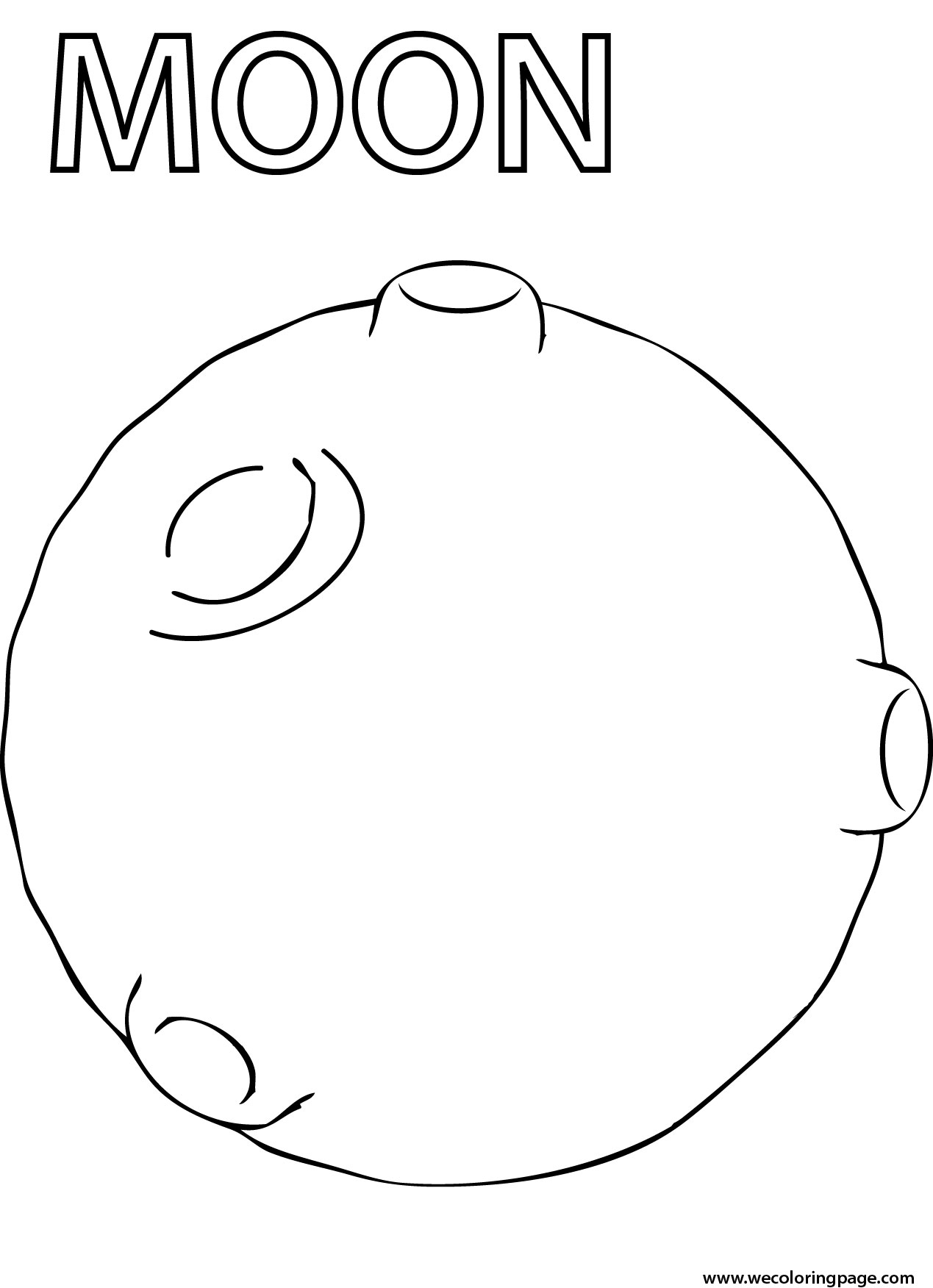 Moon coloring pages for preschoolers - Moon Coloring Page
