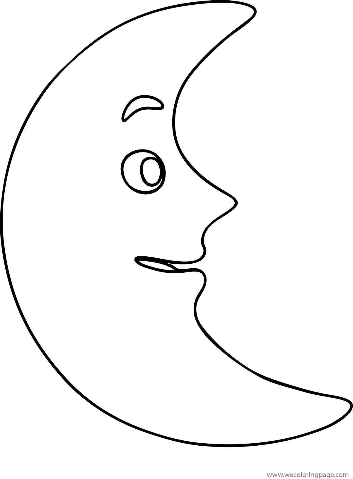 Moon Smile Coloring Page