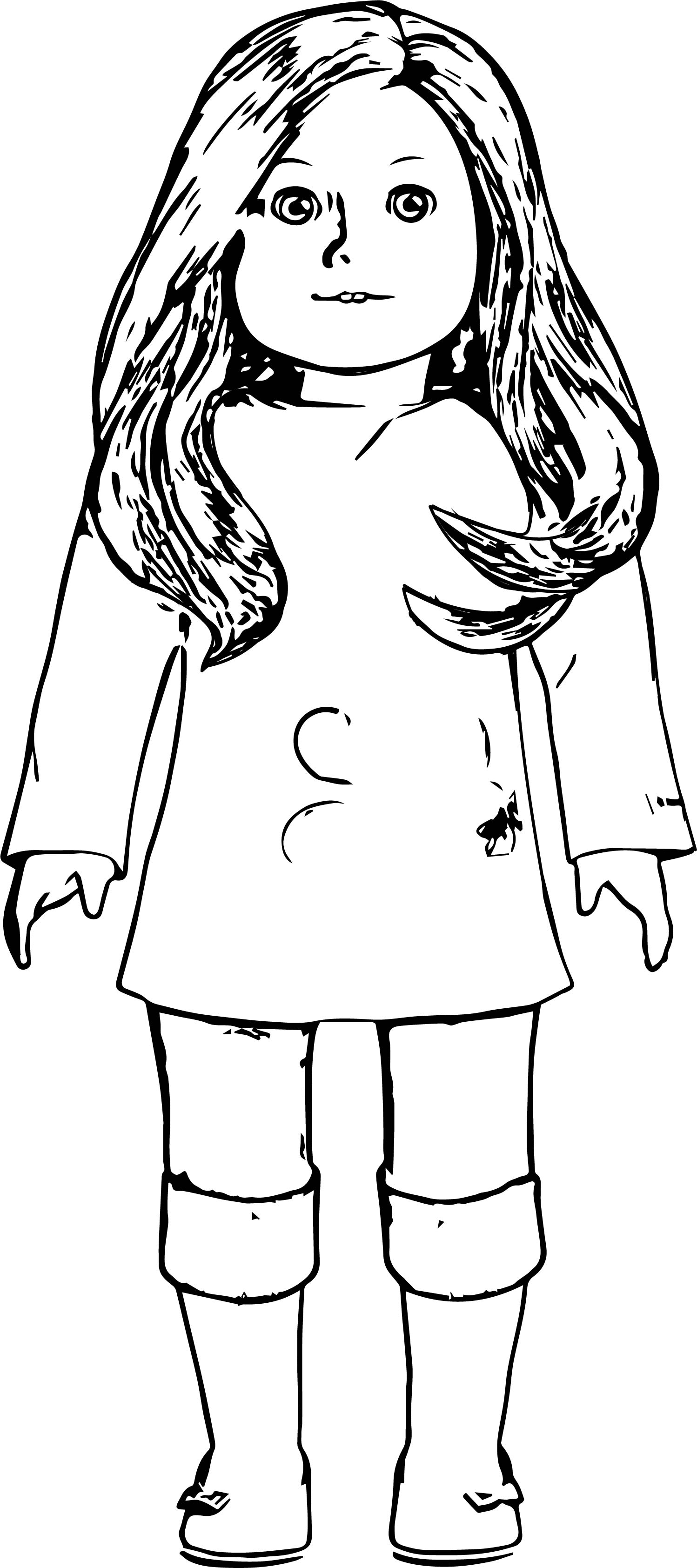 My american girl doll coloring page for American girl doll coloring page