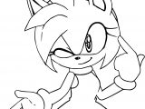 My Mind Amy Rose Coloring Page