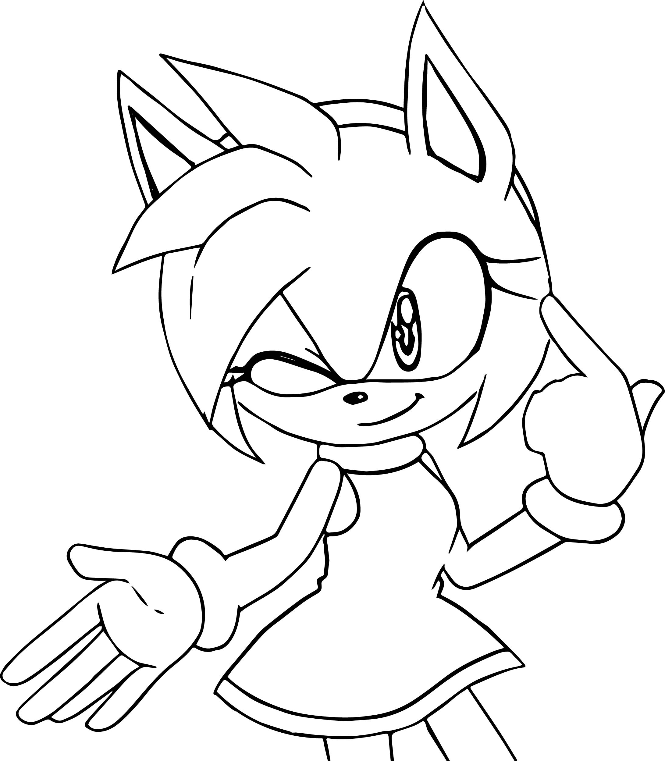 my mind amy rose coloring page wecoloringpage