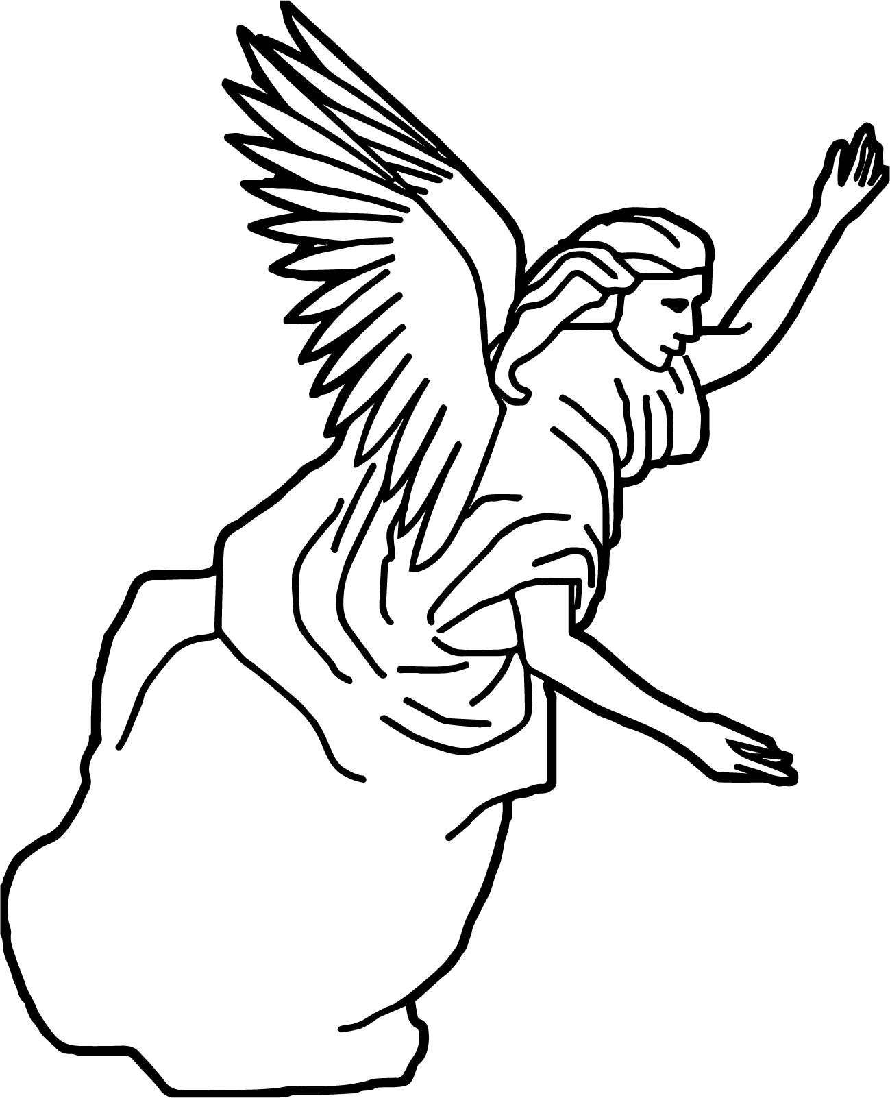 New Angel Coloring Page