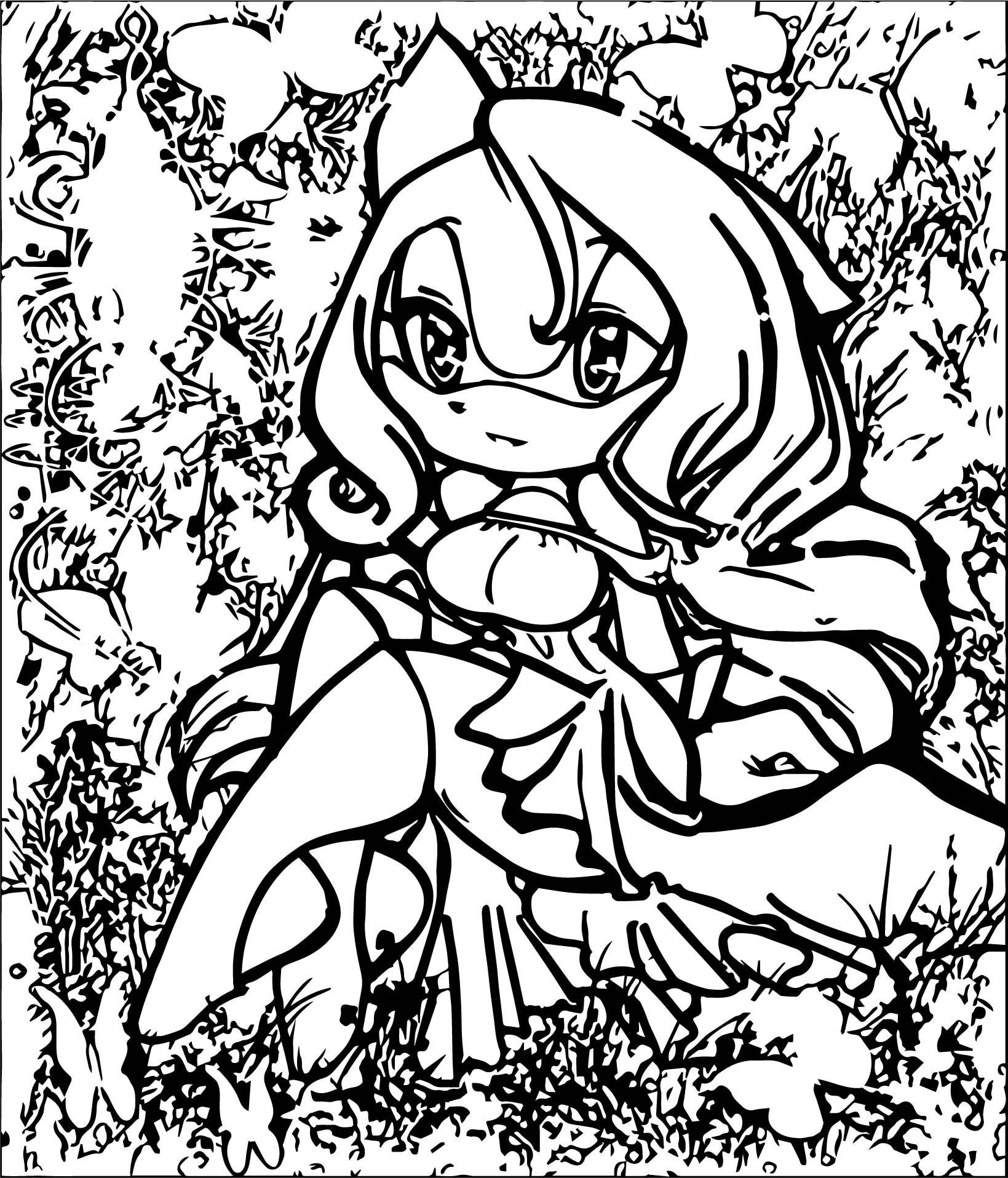 Nice Amy Rose Coloring Page