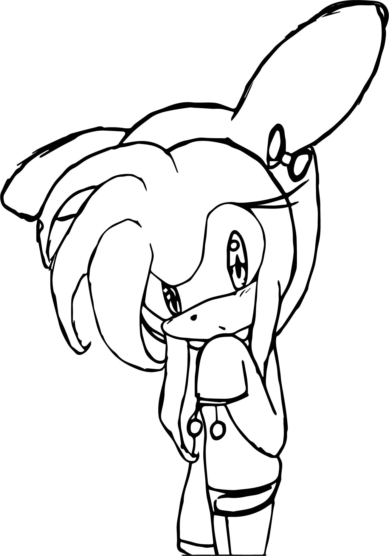 Night Amy Rose Coloring Page