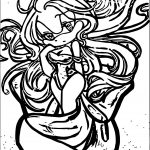 Night Angel Amy Rose Coloring Page