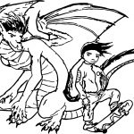 Old American Dragon Jake Long Sketch Coloring Page