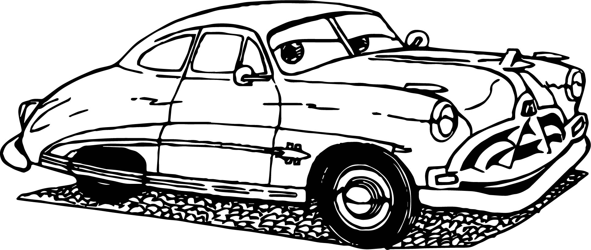 Antique cars coloring pages - Old Cars Coloring Page