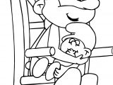Papa Smurf And Ba Smurf Super Schtroumpf Coloring Page