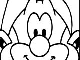Papa Smurf Face Coloring Page