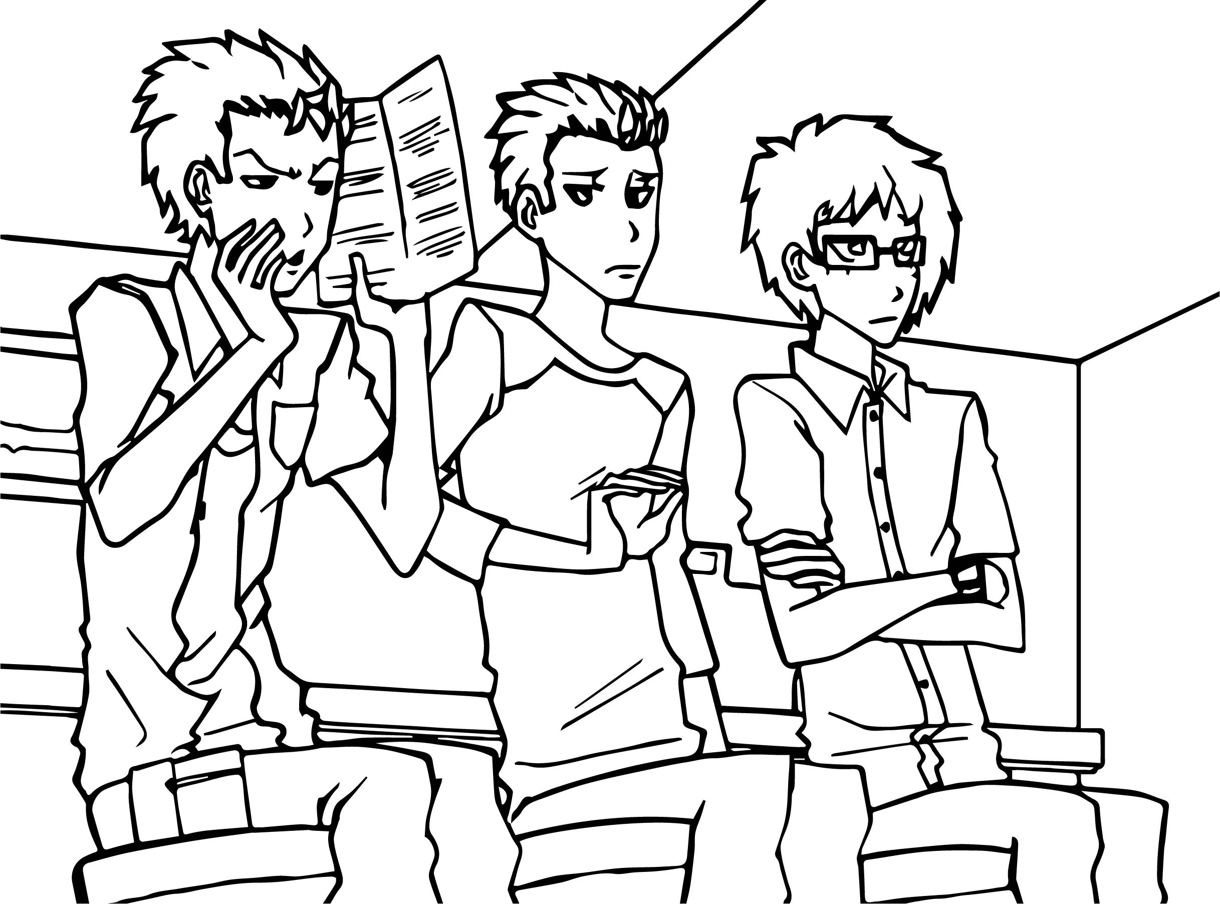 Phil Tommy And Chuckie Re Rendered From A Scene In All Grown Up Coloring Page