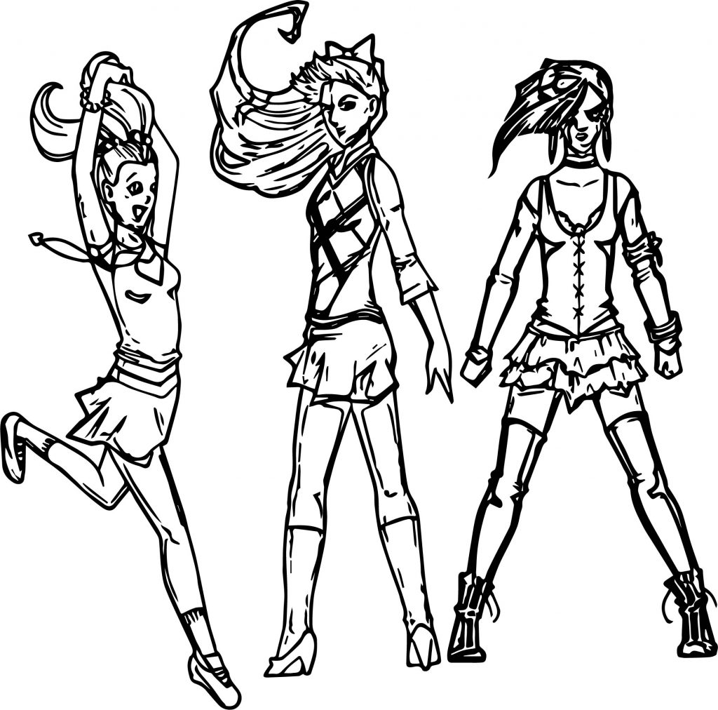 Powerpuff Girls All Grown Up Xombie Octopus Queen Coloring Page ...