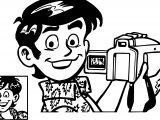 Raj Banner Camera Coloring Page