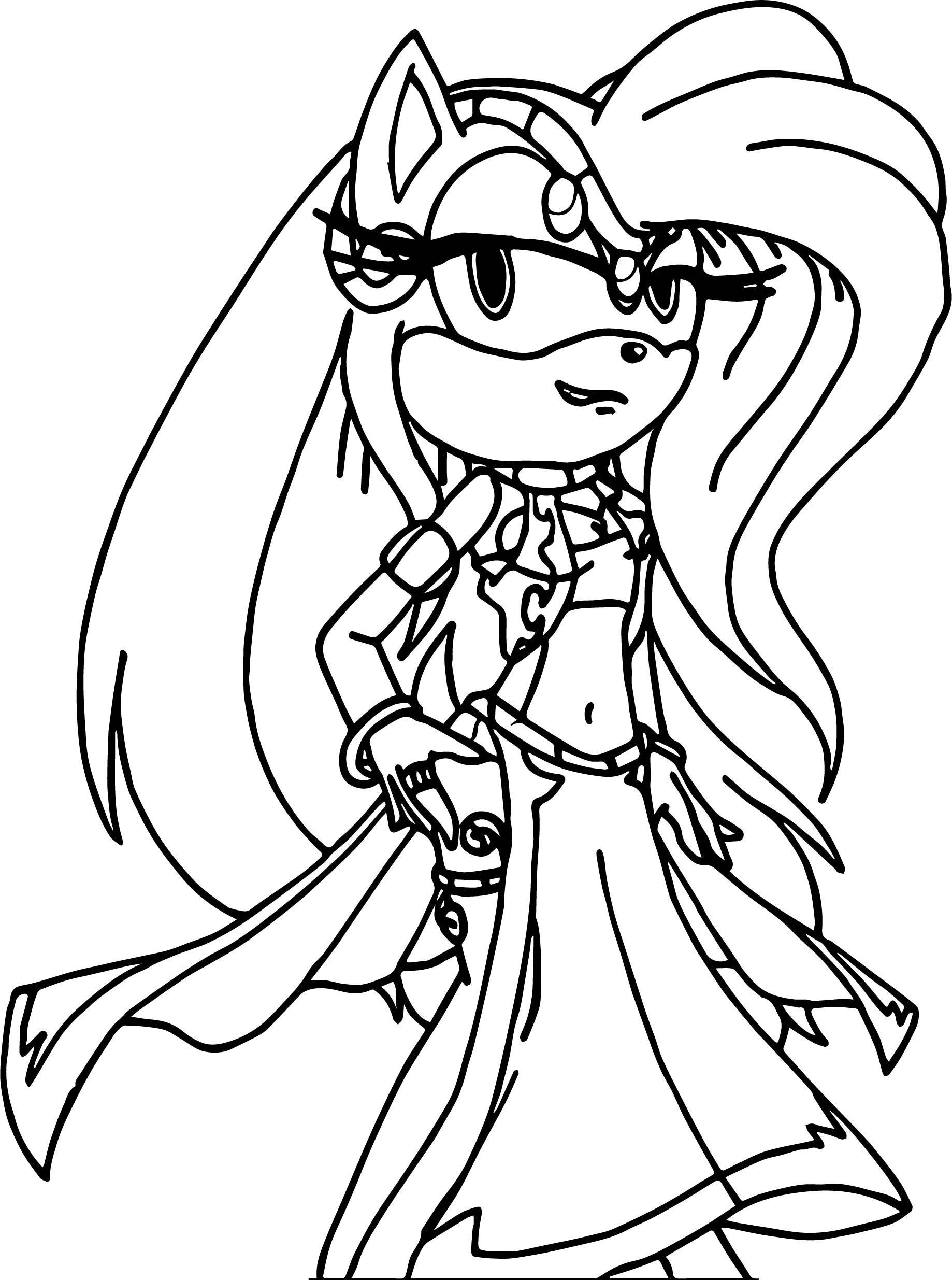 Rock Amy Rose Coloring Page