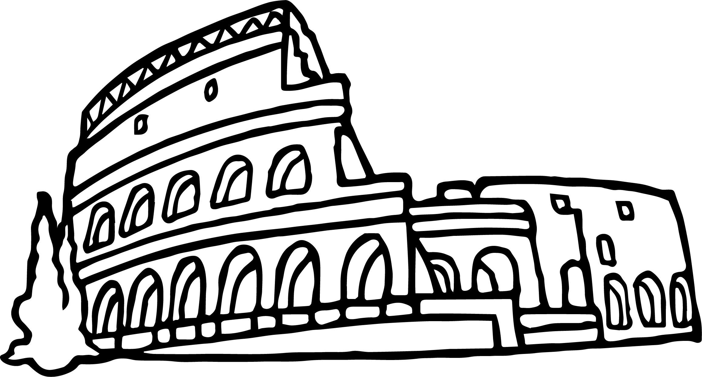 Roman Rome Coleseum Coloring Page
