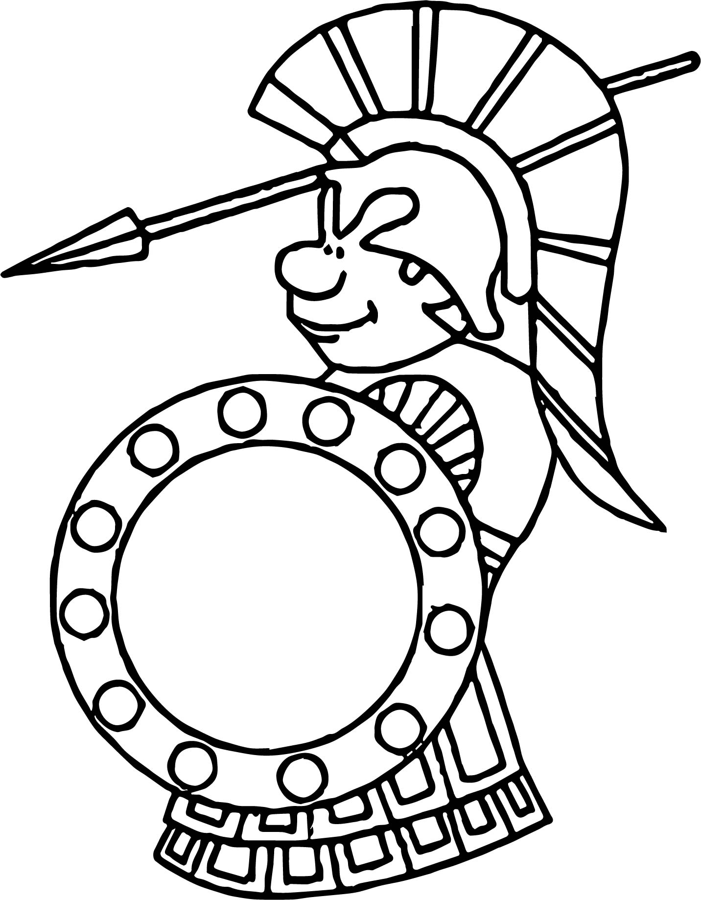 Roman Soldier Attack Coloring Page