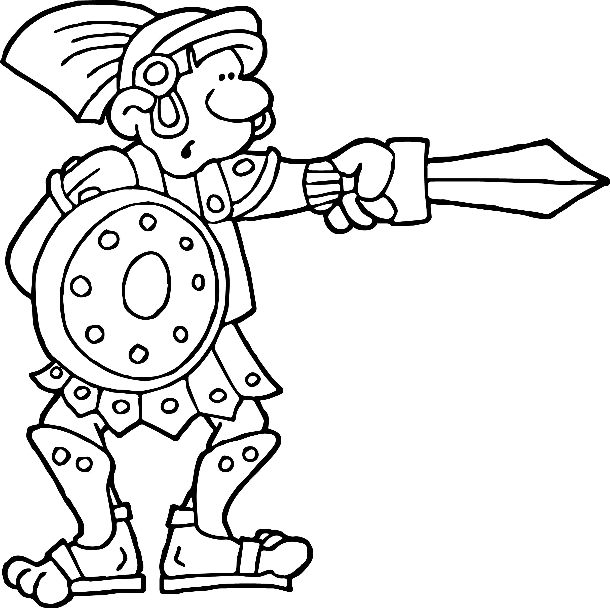 Rome Gladiator Coloring Page