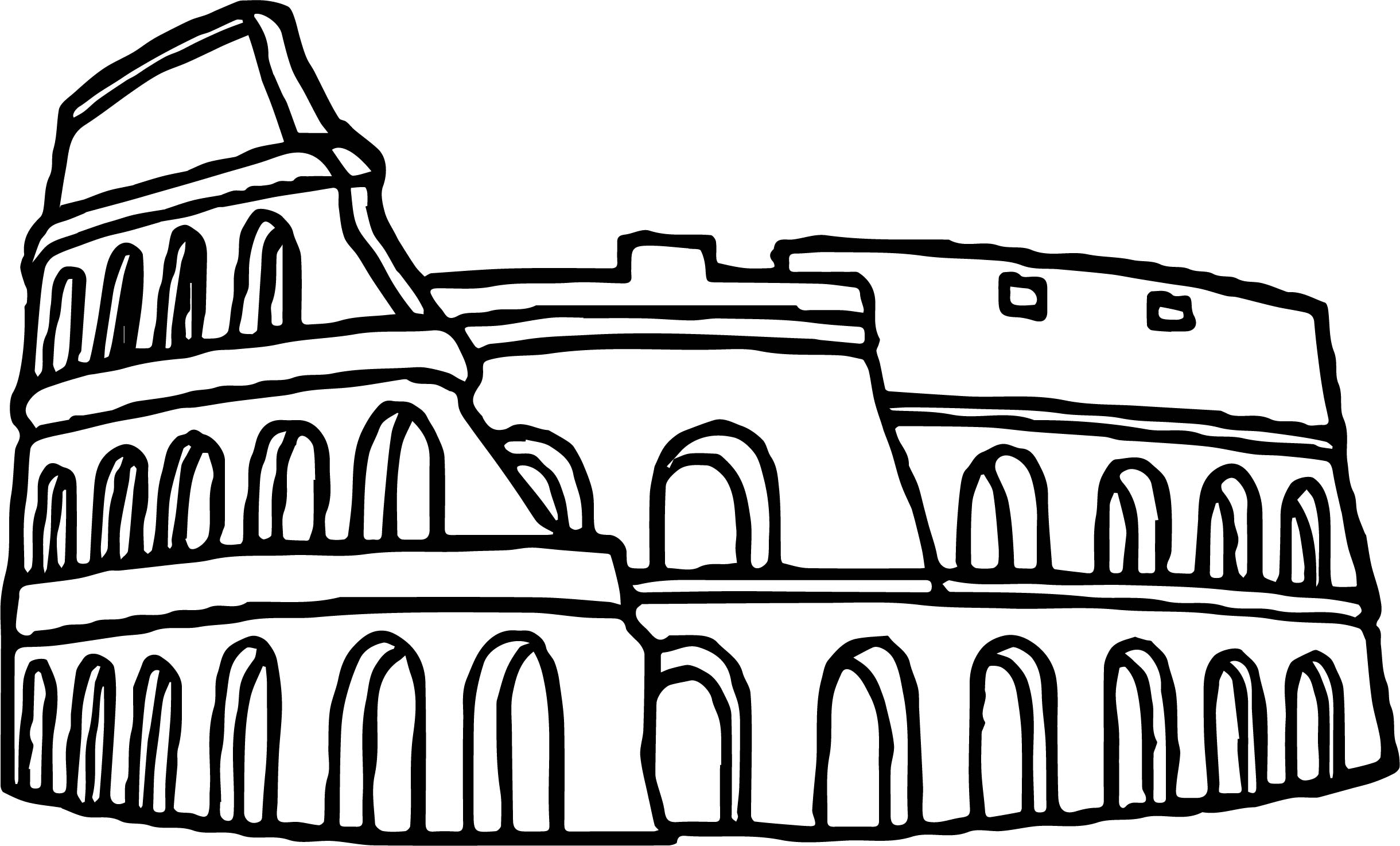 Rome Icon Coloring Page