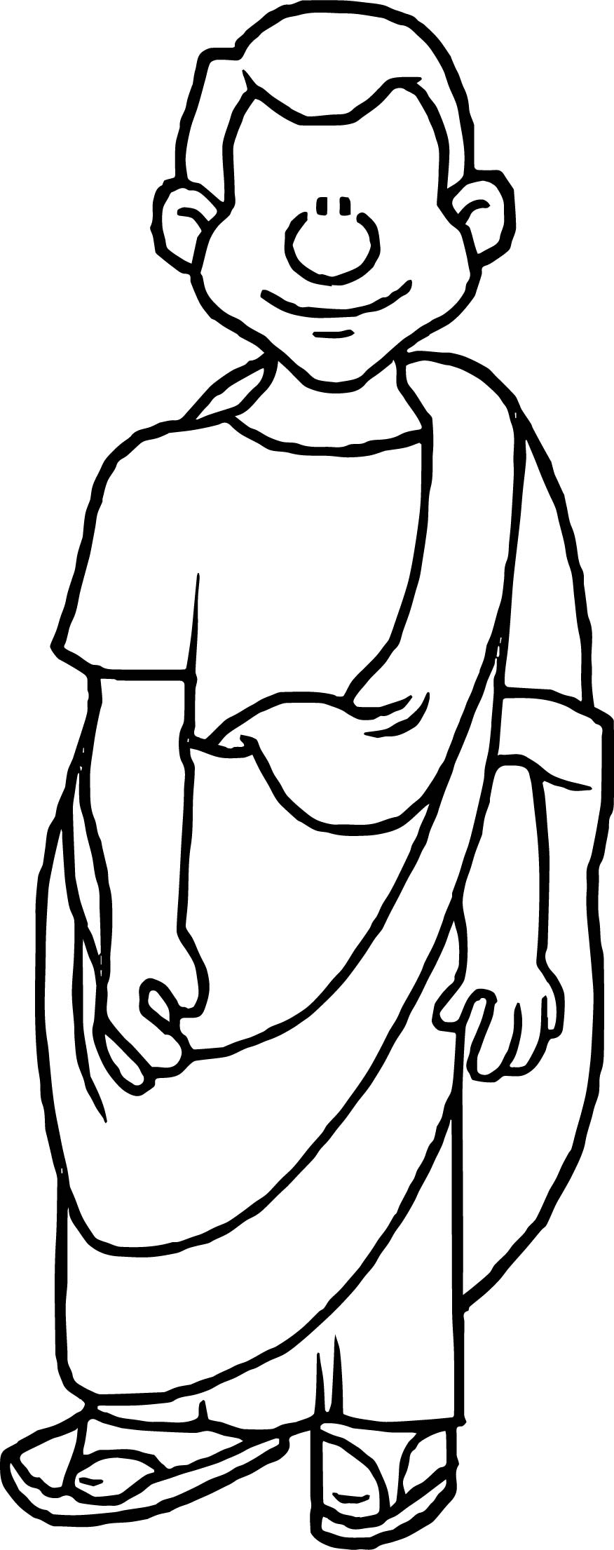 Rome Man Coloring Page