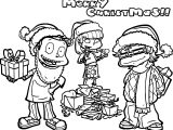 Rugrats All Grown Up Christmas All Grown Up Coloring Page