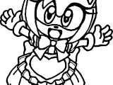 Small Kid Amy Rose Coloring Page