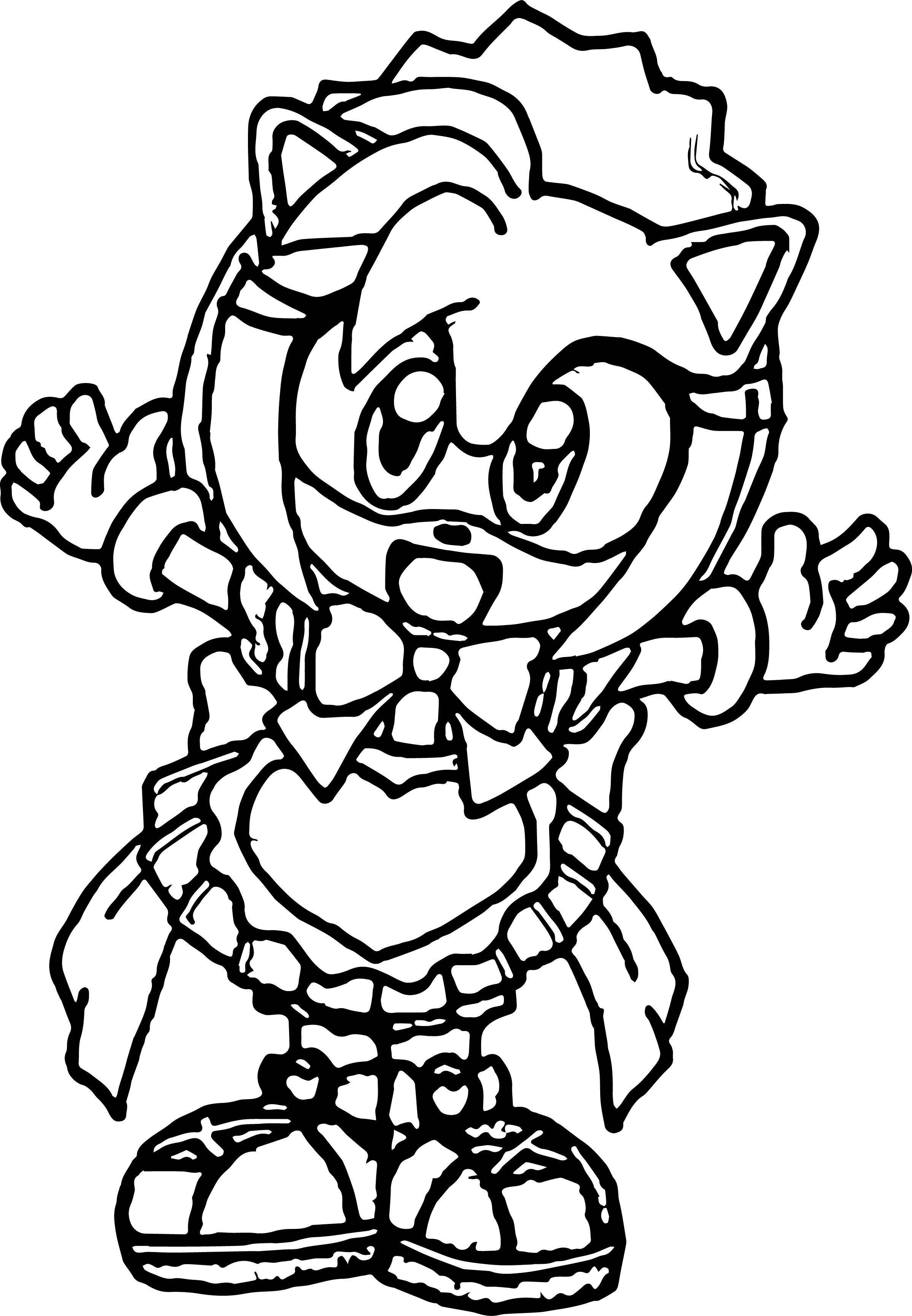 Small Kid Amy Rose Coloring Page | Wecoloringpage.com