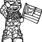 Soldier Boy Flag Coloring Page