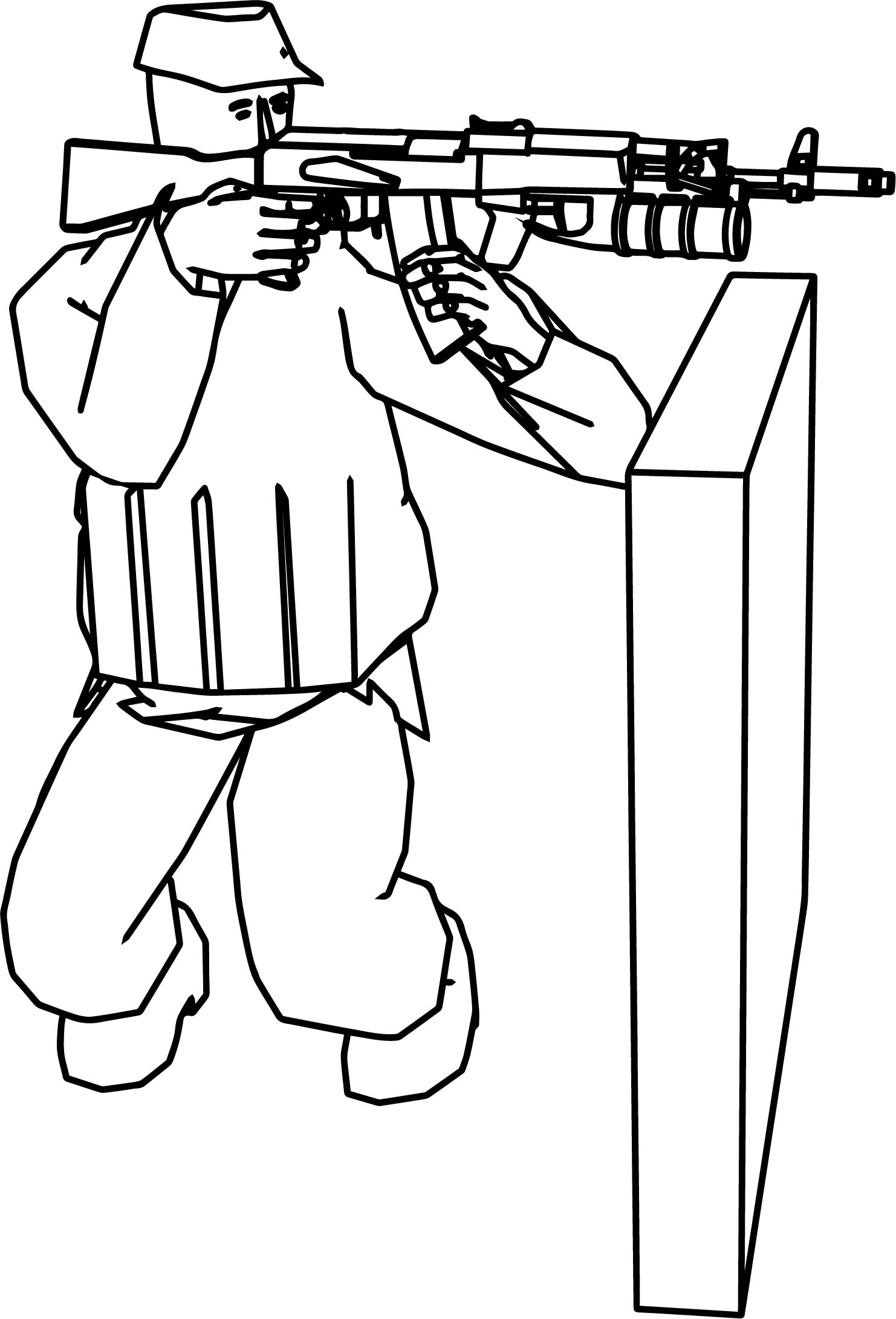Soldier Fire Coloring Page