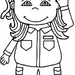 Soldier Girl Coloring Page