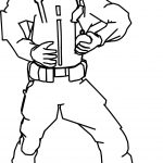 Soldier Go Bomb Coloring Page