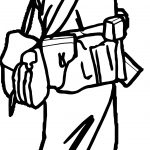 Soldier Looking Coloring Page