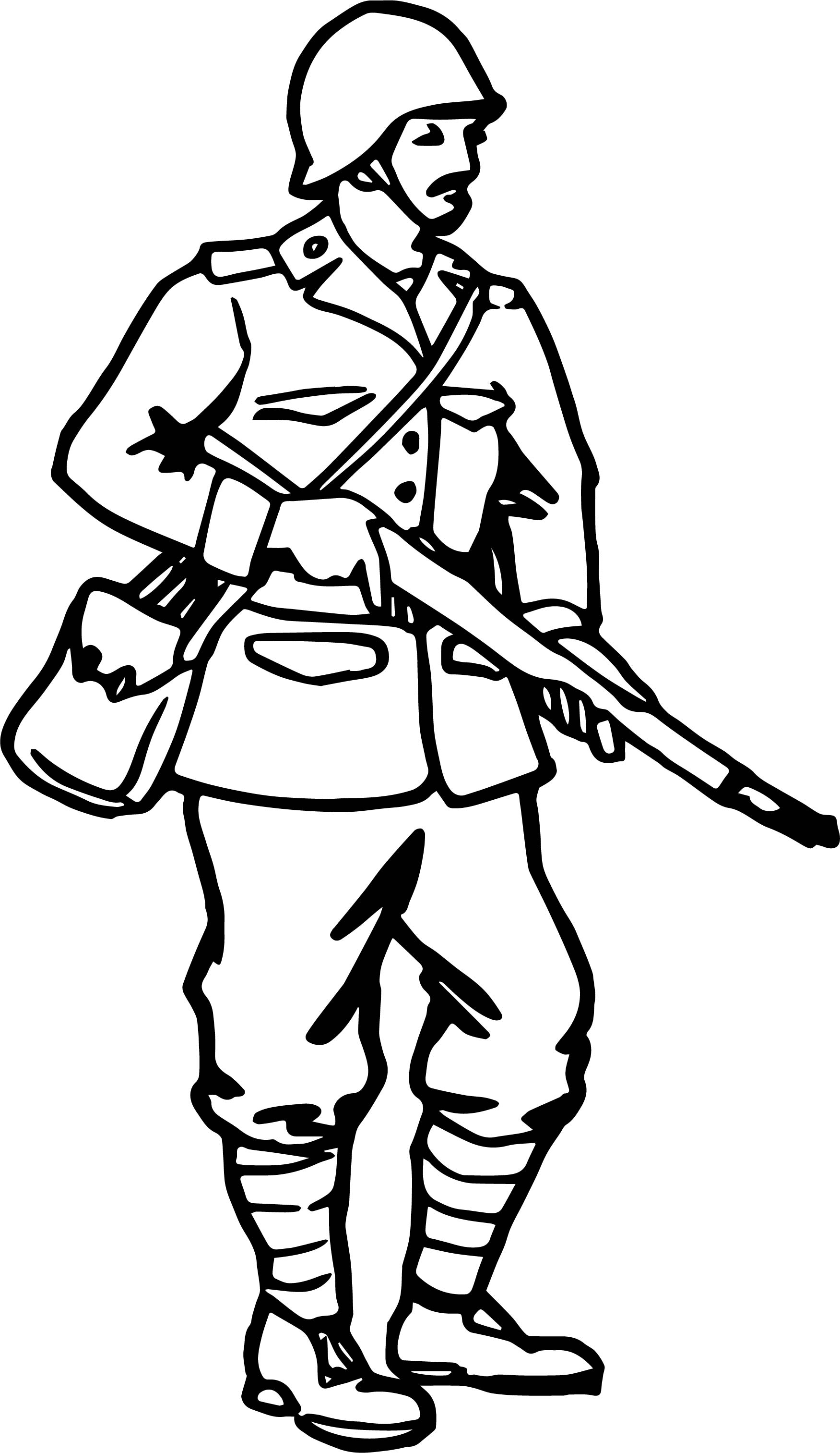 Soldier Man Coloring Page