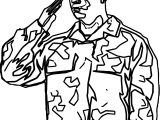 Soldier Salute Coloring Page