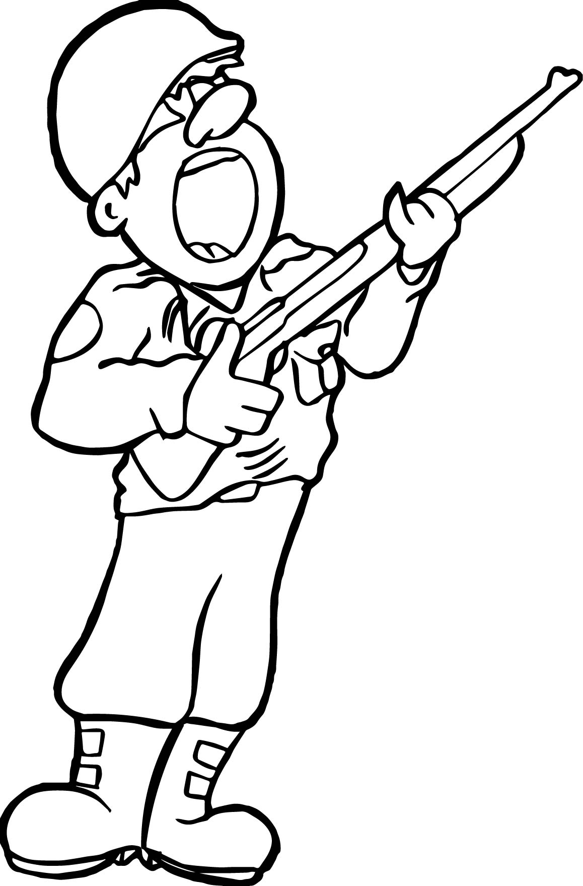 Soldier Shout Coloring Page